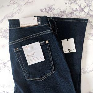 NWT 7 for All Mankind High Waist Slim Kick Jeans